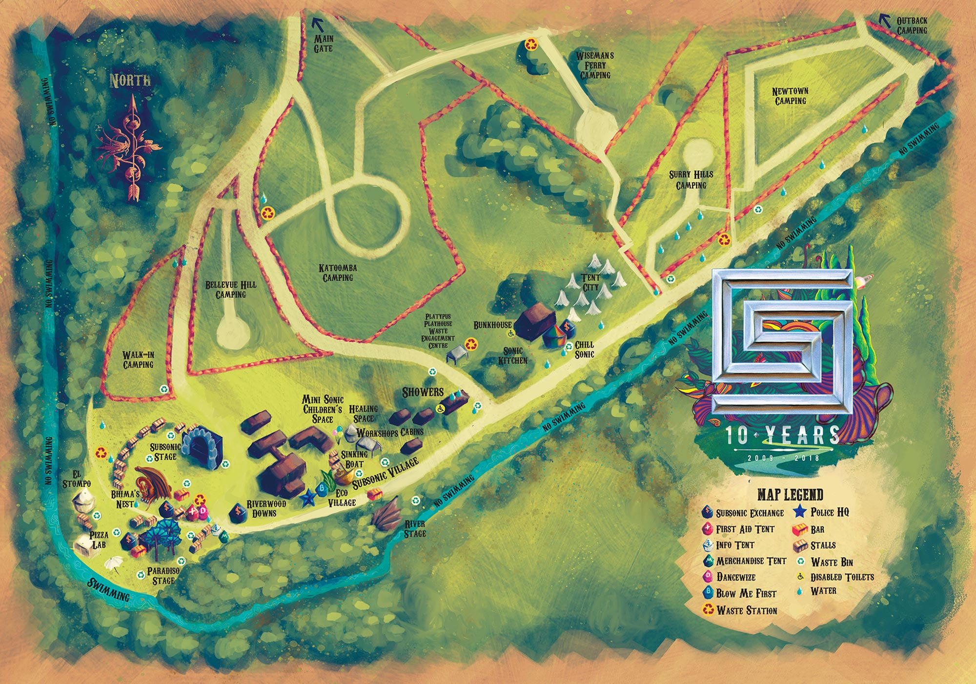 Subsonic Music Festival 2018 - Festival Site Map
